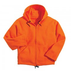 Fleece hoodies and track sweat pants for Canadian outdoor adventures  - Blaze orange hunting safety gear, apparel for men, women, kids