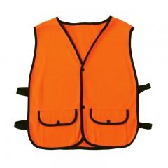Hunting blaze safety fleece vest with pockets
