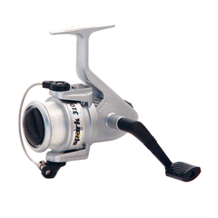 Fishing spinning reel for anglers in streams, rivers