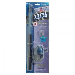 Fishing telescopic kit spincast rod reel hooks sinkers floats