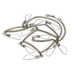 brass fish stringer, fish stringer, metal fish stringer, long fish stringer, long brass fish stringer, cable fish stringer, fish stringer with swivels, fish stringer with snaps and swivels