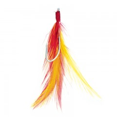 Fishing terminal tackle feather baits mackerel red yellow