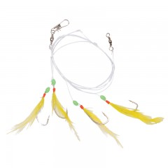 Fishing tackle rig sabiki feathered hooks