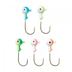 Fishing tackle jig heads duo tone glow single eye