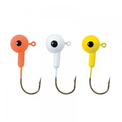 Fishing tackle jig heads floating round single eye