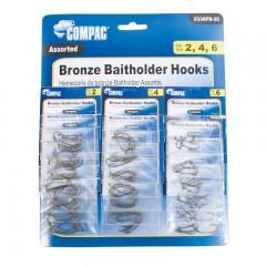 Canadian fishing tackle bronze baitholder hooks