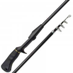 telescopic spincast rod medium light action