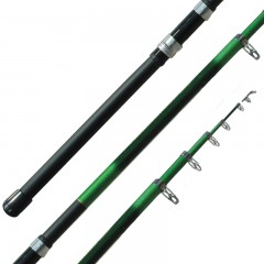 Polecat telescopic extension fishing pole with stainless steel guides and tip