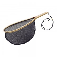 fishing net, wooden fishing net, wood fish net, catch and release net, landing net, landing fishing net, teardrop fishing net, laminated wooden fishing net, fishing net with lanyard, fish net