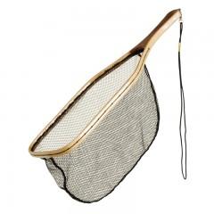Fishing gear equipment net catch release wood soft mesh
