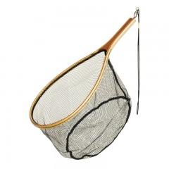 Fishing gear equipment net catch release wood rubberized mesh