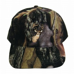 Camo hunt caps, fur hats for warmth when hunting outdoors, moose, deer logo - Camo hunt caps, fur hats for warmth when hunting outdoors, moose, deer logo