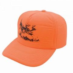 Hunting apparel caps blaze orange deer logo safety polyester