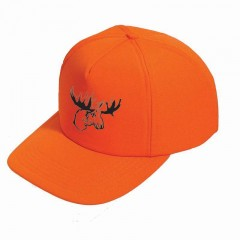 Hunting apparel caps blaze orange moose logo safety polyester