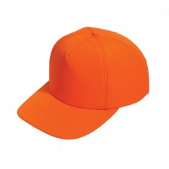 Blaze orange hunt caps for safety when hunting outdoors, moose, deer logo - Blaze orange hunting safety gear, apparel for men, women, kids