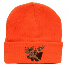 Backwoods Thinsulate black knit hunting touques with moose logo