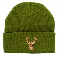 Backwoods Thinsulate green knit hunting touques with Backwoods logo