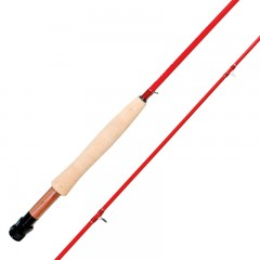 Emery Jupiter junior red fly fishing rod for kids with Titanium and stainless steel guides