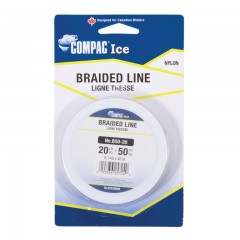 Fishing ice line braided spool Canadian winter