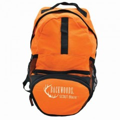 Backwoods 15 litre blaze orange waterproof hunting backpack with padded shoulder straps