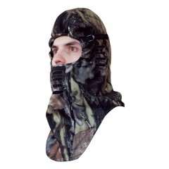 Backwoods Pure Camo Deluxe balaclava with mouth vent slits