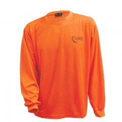 Long sleeve shirt blaze orange polyester