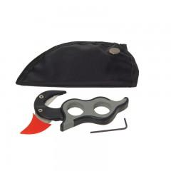 Gut zipper hunting tool skinning 2 blades rubber grip