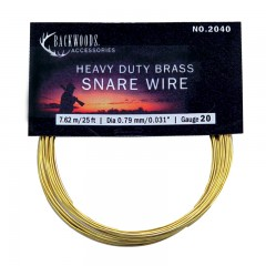 Backwoods heavy duty brass hunting snare game trapping wire
