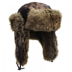 Hunting apparel fur hat camo waterproof insulated lining