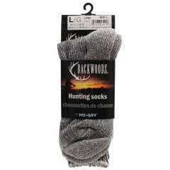 Backwoods gray wool hunting socks