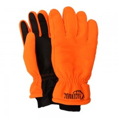 Insulated hunting gloves blaze orange waterproof