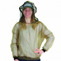 Bug jacket mosquito protection zipper head opening