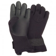 Compac deluxe black neoprene fishing gloves