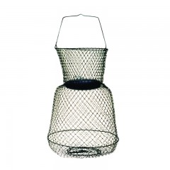 Compac floating wire fish baskets with neck and single handle