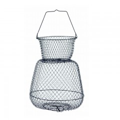 Wire fish baskets with neck and single handle