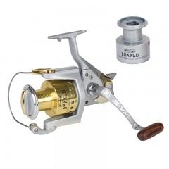 Premium fishing spinning reel vented aluminum spool