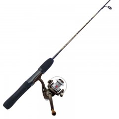 Fishing ice rod reel combo Canadian winters pre-spooled
