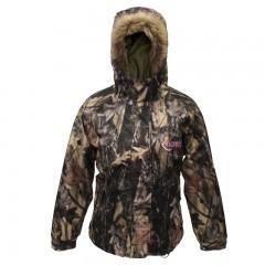 Womens hunting camo jacket fur lined hood
