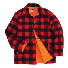 Reversible lumberjack hunting jacket - Blaze orange hunting safety gear, apparel for men, women, kids