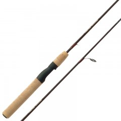 Two piece spinning fishing rods with top grade cork handle and strong t-ring guides