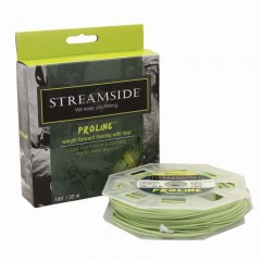Fishing fly line weight forward floating taper loop green