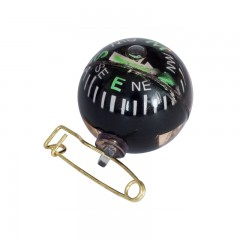Compass outdoors hiking pin on ball