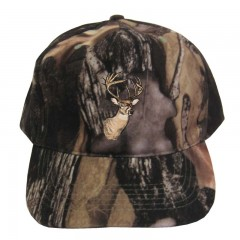 Backwoods Pure Camo hunting cap with deer logo