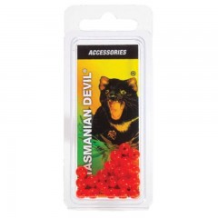 Red beads for Tasmanian Devil