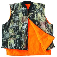 Reversible hunting vest camo blaze orange waterproof