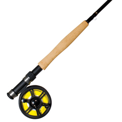 Pre spooled fly fishing combo with Concord graphite reel and Neptune fly rod