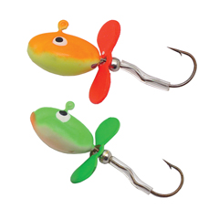 Ice fishing lures spinning jigs glow in the dark
