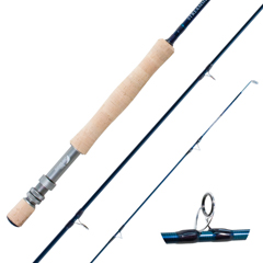 Streamside Tranquility stillwater fly fishing rod with SiC guides