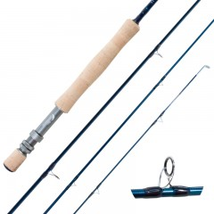 Fly fishing rod 4 piece lightweight SiC guides