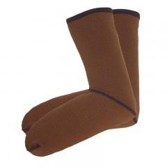 Compac brown fleece lined neoprene sizzle socks